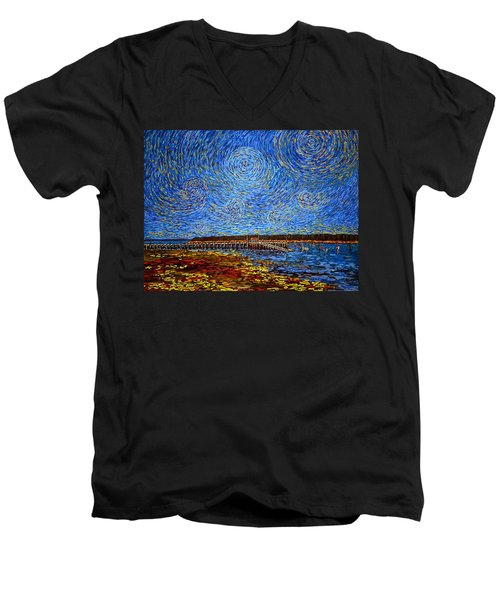 Looking East - St Andrews Wharf 2013 Men's V-Neck T-Shirt