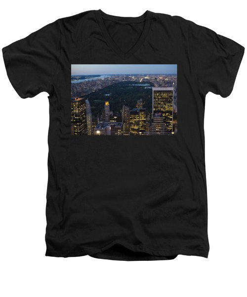 Looking From Top Of The Rock Men's V-Neck T-Shirt