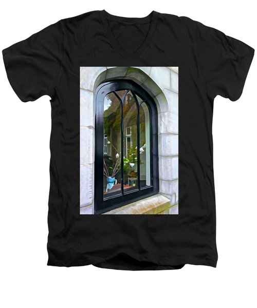 Men's V-Neck T-Shirt featuring the photograph Looking In by Charlie and Norma Brock