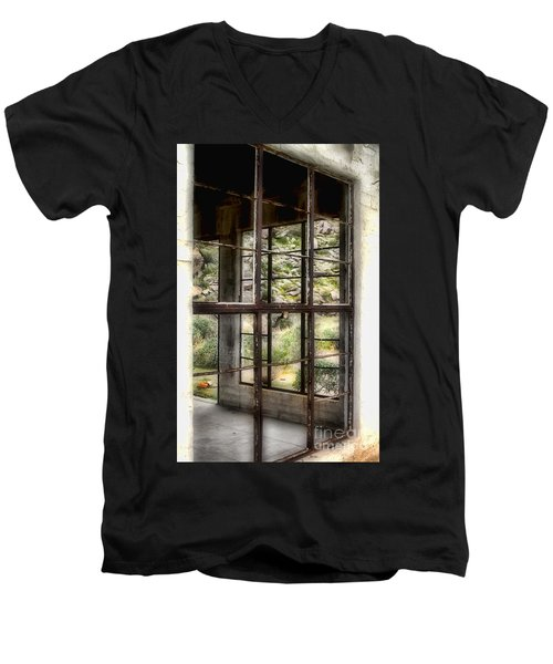 Looking Through The Window By Diana Sainz Men's V-Neck T-Shirt