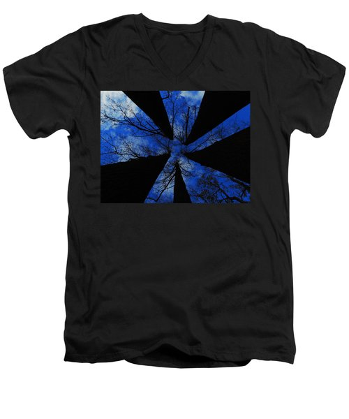 Looking Up Men's V-Neck T-Shirt by Raymond Salani III