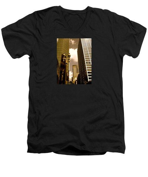 Los Angeles Downtown Men's V-Neck T-Shirt