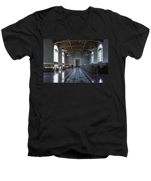 Los Angeles Union Station Original Ticket Lobby Men's V-Neck T-Shirt