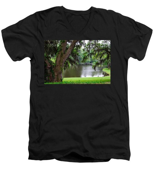 Lost Bridge Men's V-Neck T-Shirt
