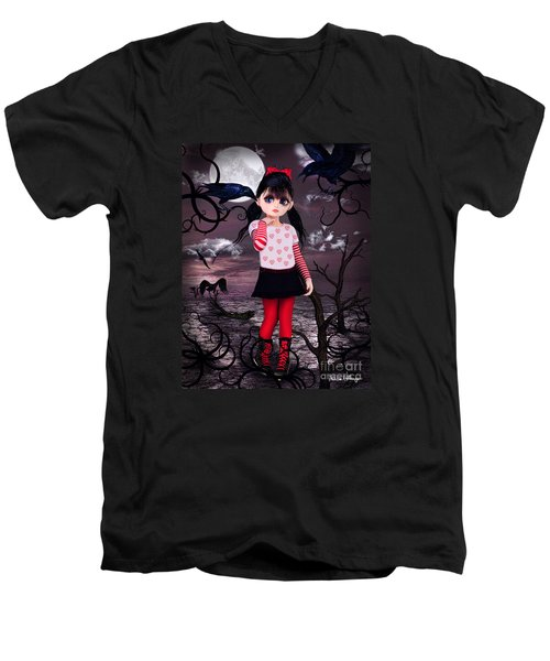 Lost Little Girl Men's V-Neck T-Shirt