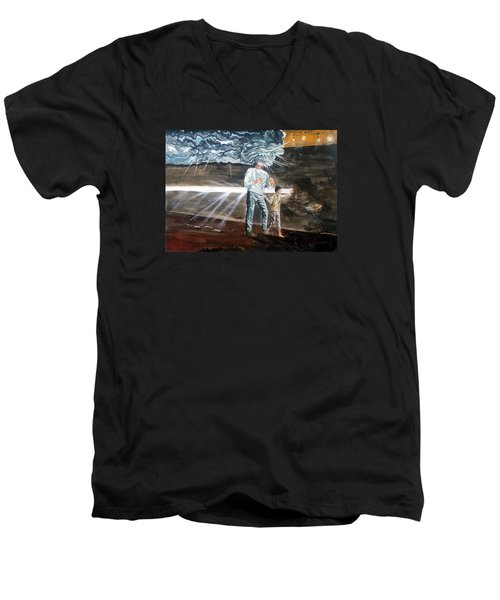 Lost Sometimes Men's V-Neck T-Shirt by Lazaro Hurtado
