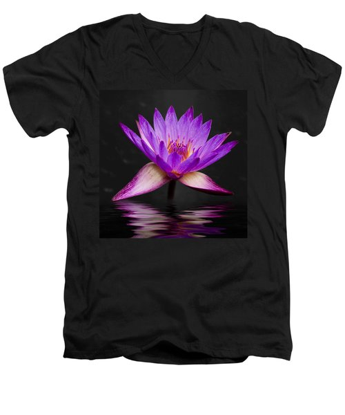 Lotus Men's V-Neck T-Shirt by Adam Romanowicz