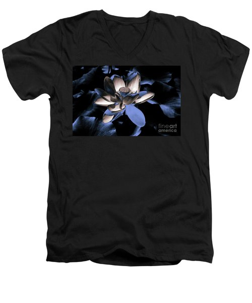 Lotus By Night Men's V-Neck T-Shirt