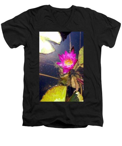 Lotus Day Men's V-Neck T-Shirt