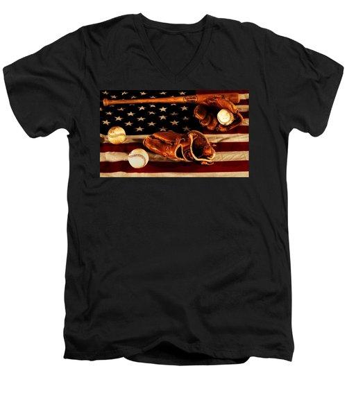 Louisville Slugger Men's V-Neck T-Shirt