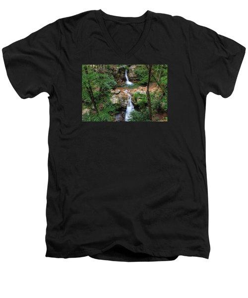 Love At The Blue Hole Men's V-Neck T-Shirt