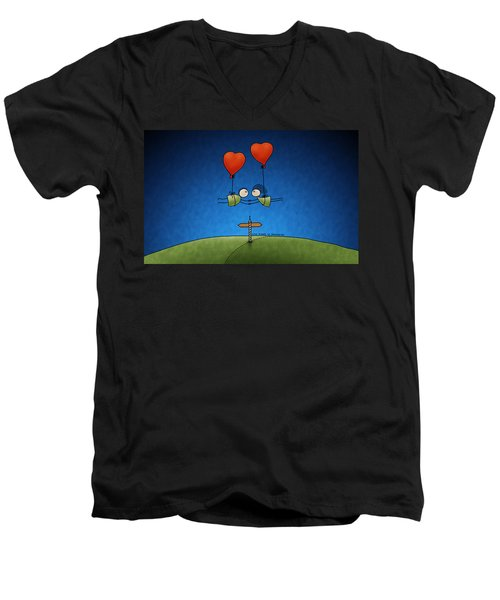 Love Beyond Boundaries Men's V-Neck T-Shirt by Gianfranco Weiss