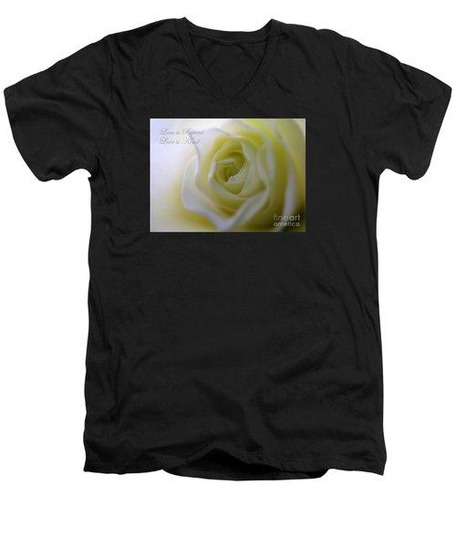 Love Is Patient Men's V-Neck T-Shirt by Patti Whitten