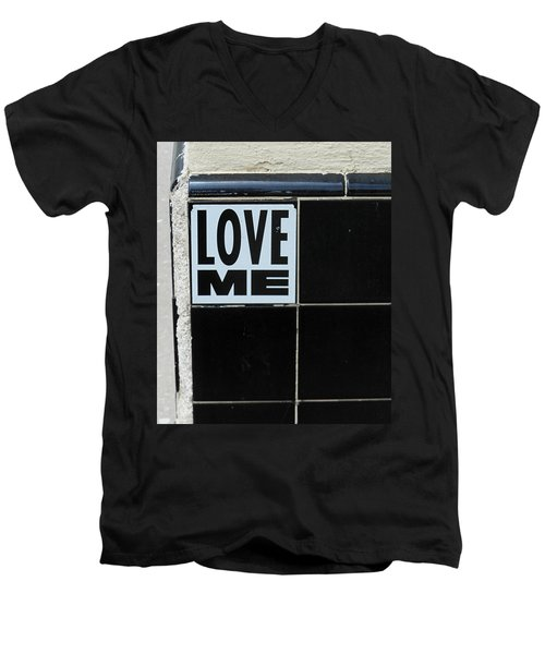 Love Me Men's V-Neck T-Shirt