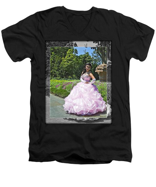 Lovely Lady At The Dallas Arboretum Men's V-Neck T-Shirt