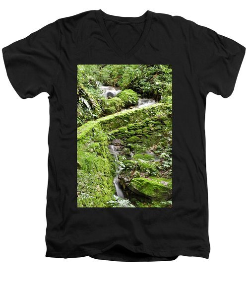 Lovely Waterfall Men's V-Neck T-Shirt
