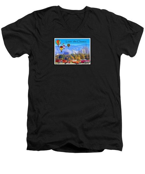 Lovin The Classics Men's V-Neck T-Shirt by Bobbee Rickard