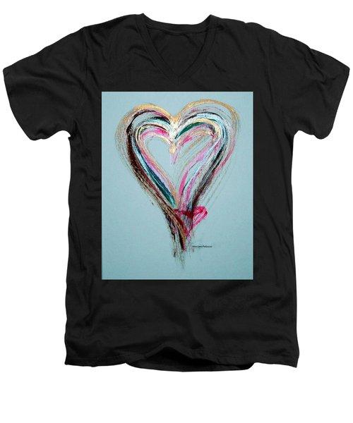 Loving Heart Men's V-Neck T-Shirt
