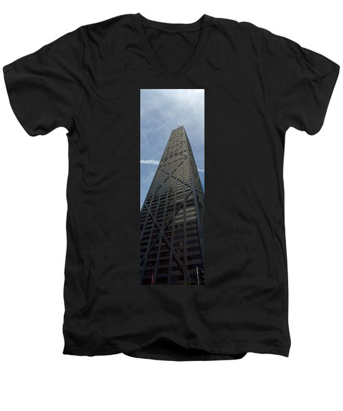 Low Angle View Of A Building, Hancock Men's V-Neck T-Shirt