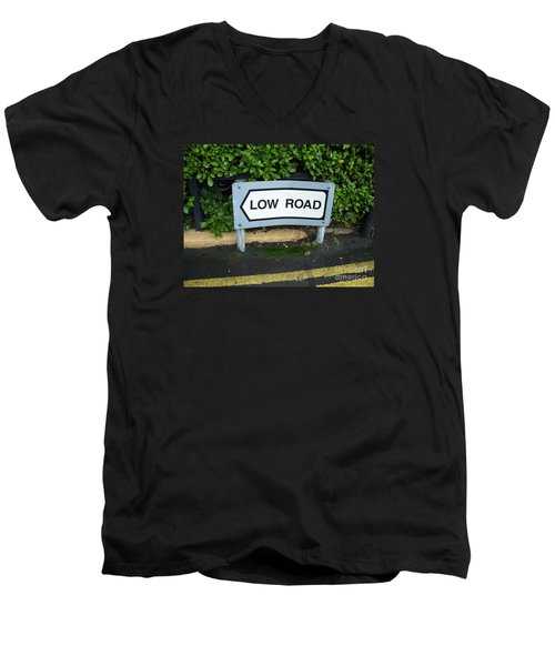 Men's V-Neck T-Shirt featuring the photograph Low Road by Marilyn Zalatan