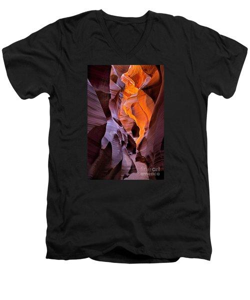 Lower Antelope Glow Men's V-Neck T-Shirt