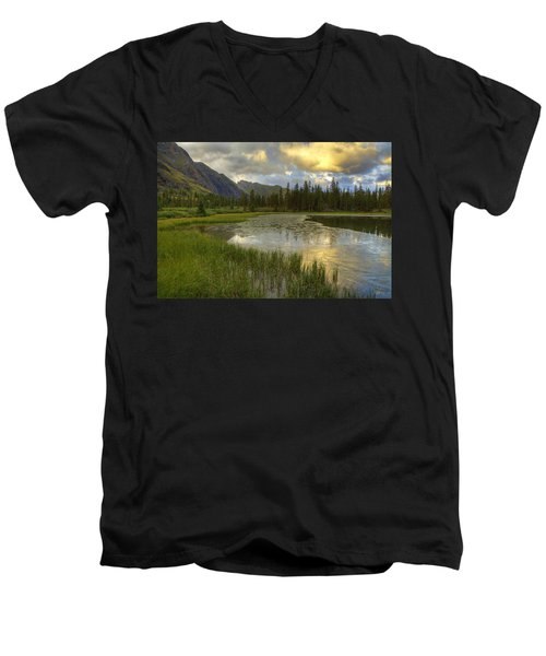 Lower Ice Lake Men's V-Neck T-Shirt