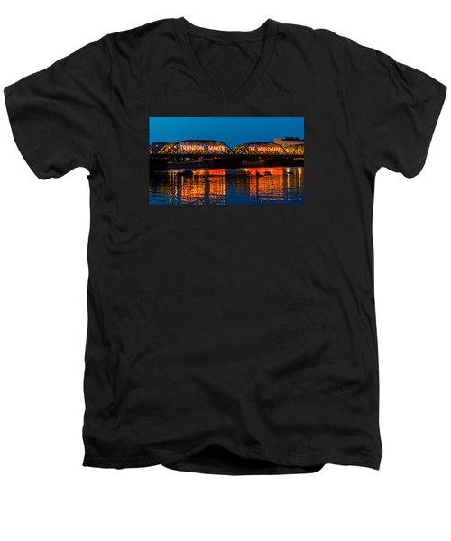 Lower Trenton Bridge Men's V-Neck T-Shirt