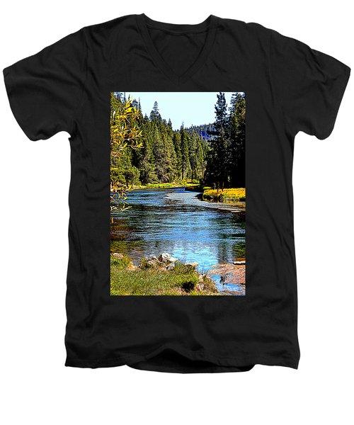 Lower Truckee River Men's V-Neck T-Shirt