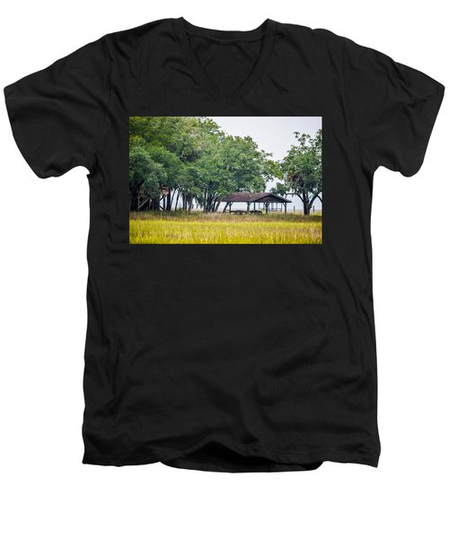 Lowland Picnic Place  Men's V-Neck T-Shirt