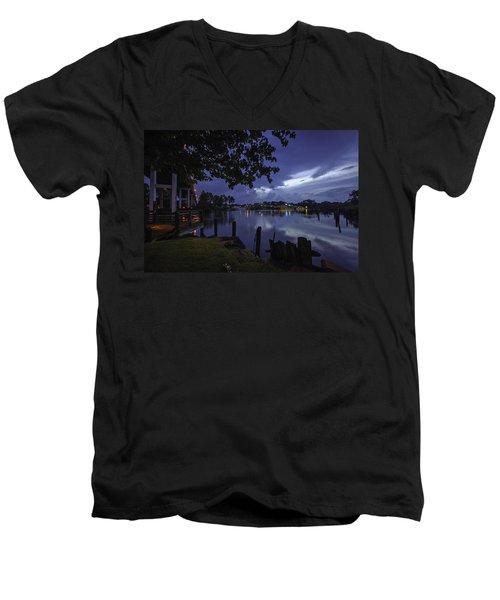 Lu Lu S Before The Storm Men's V-Neck T-Shirt by Michael Thomas