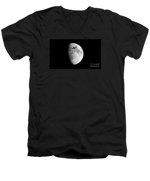 Men's V-Neck T-Shirt featuring the photograph Lucky Shot by Janice Westerberg