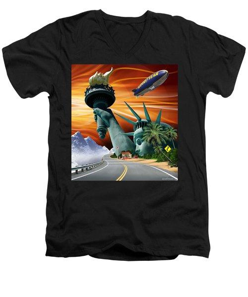 Lucky Star Men's V-Neck T-Shirt