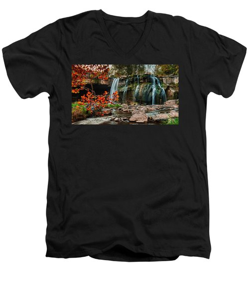 Ludlowville Falls Men's V-Neck T-Shirt