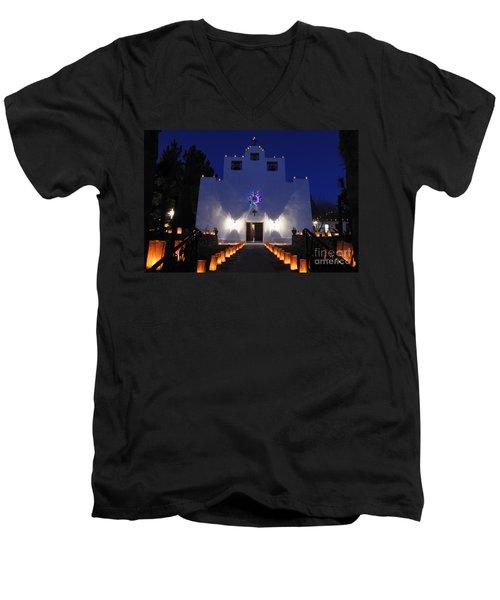 Luminarias At St Francis De Paula Men's V-Neck T-Shirt