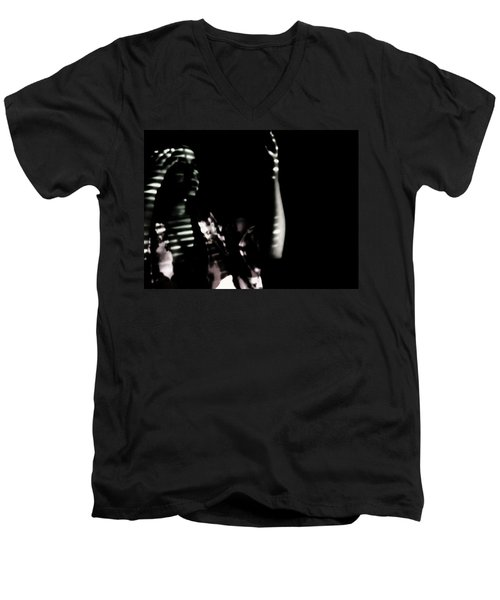 Men's V-Neck T-Shirt featuring the photograph Lurid  by Jessica Shelton