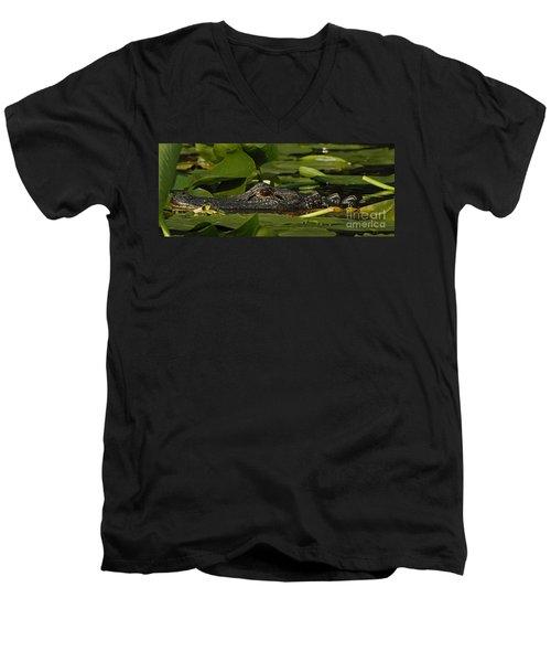 Lying In Wait Men's V-Neck T-Shirt by Vivian Christopher