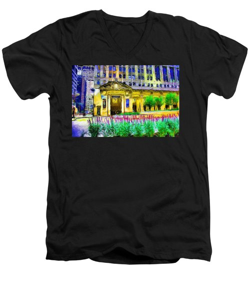 Lyric Opera House Of Chicago Men's V-Neck T-Shirt
