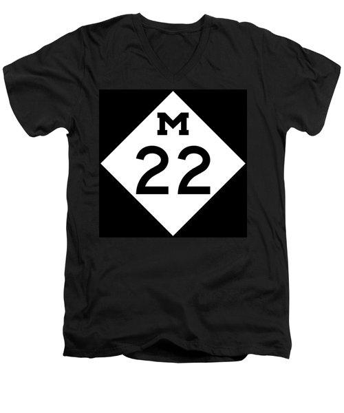 M 22 Men's V-Neck T-Shirt