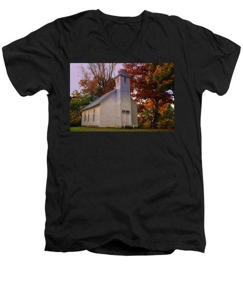 Macedonia Missionary Baptist Church Men's V-Neck T-Shirt by Chris Flees