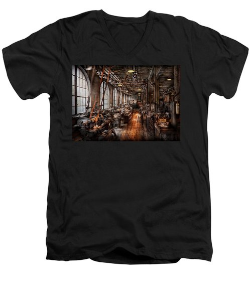 Machinist - A Fully Functioning Machine Shop  Men's V-Neck T-Shirt