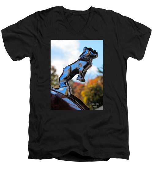 Mack Bulldog Men's V-Neck T-Shirt