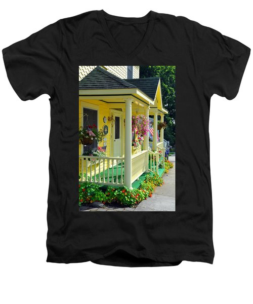 Mackinac Island Americana Men's V-Neck T-Shirt