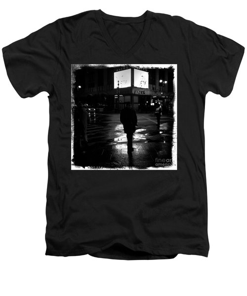 Men's V-Neck T-Shirt featuring the photograph Macy's - 34th Street by James Aiken