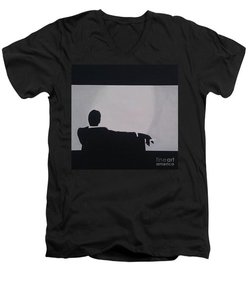 Mad Men In Silhouette Men's V-Neck T-Shirt