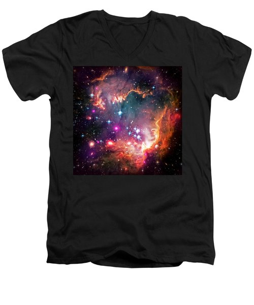 Magellanic Cloud 2 Men's V-Neck T-Shirt by Jennifer Rondinelli Reilly - Fine Art Photography