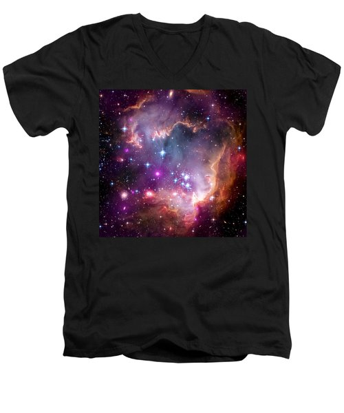 Magellanic Cloud 3 Men's V-Neck T-Shirt by Jennifer Rondinelli Reilly - Fine Art Photography