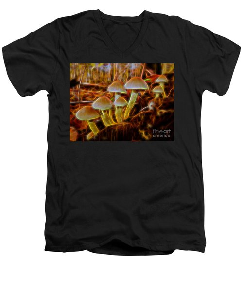 Magic Mushroom-3 Men's V-Neck T-Shirt