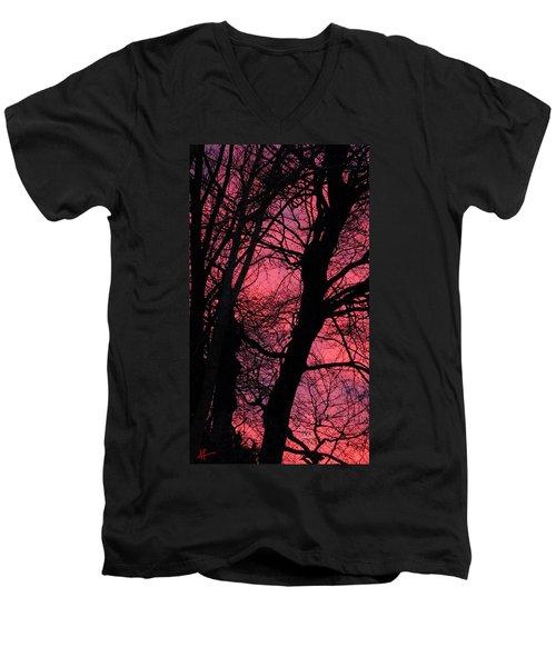 Magic Sunset  Men's V-Neck T-Shirt