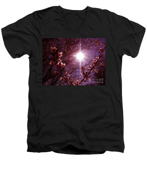 Men's V-Neck T-Shirt featuring the photograph Magical Blossoms by Vicki Spindler
