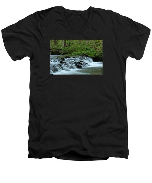 Men's V-Neck T-Shirt featuring the photograph Magical River by Julie Andel